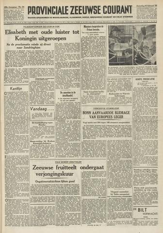 Provinciale Zeeuwse Courant 1952-02-09