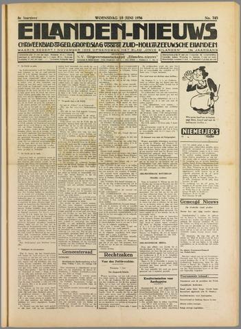 Eilanden-nieuws. Christelijk streekblad op gereformeerde grondslag 1936-06-10