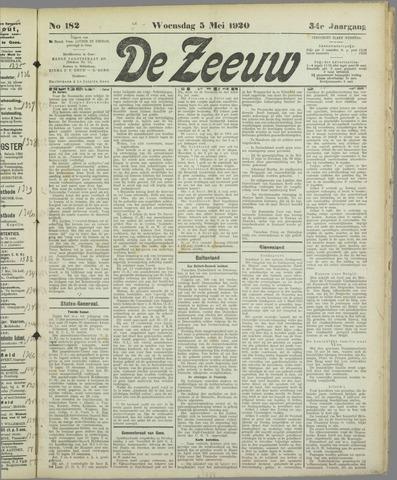 De Zeeuw. Christelijk-historisch nieuwsblad voor Zeeland 1920-05-05