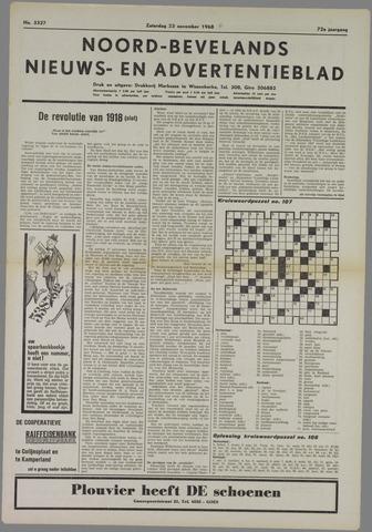 Noord-Bevelands Nieuws- en advertentieblad 1968-11-23