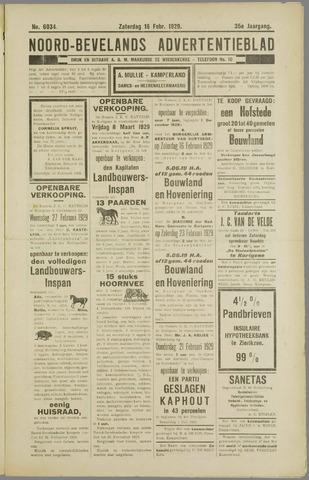 Noord-Bevelands Nieuws- en advertentieblad 1929-02-16
