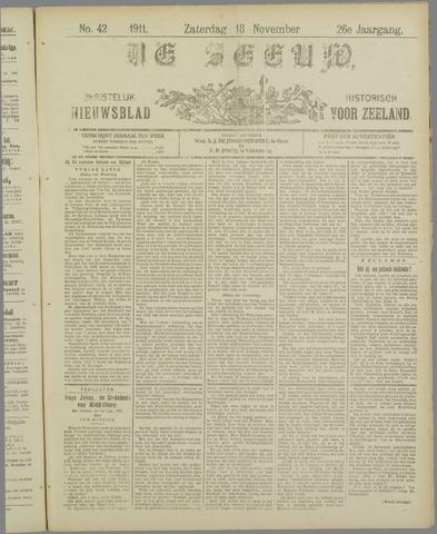 De Zeeuw. Christelijk-historisch nieuwsblad voor Zeeland 1911-11-18
