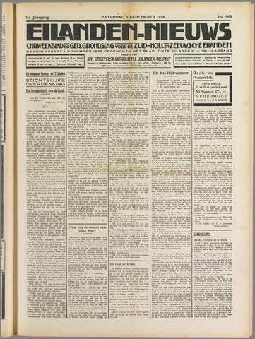 Eilanden-nieuws. Christelijk streekblad op gereformeerde grondslag 1938-09-03