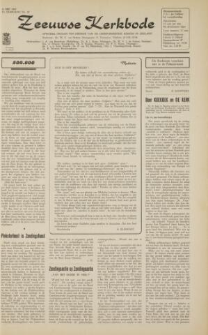 Zeeuwsche kerkbode, weekblad gewijd aan de belangen der gereformeerde kerken/ Zeeuwsch kerkblad 1963-05-31