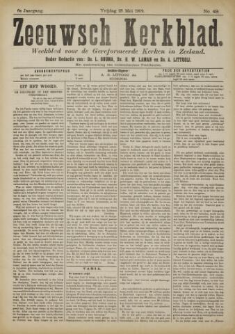 Zeeuwsche kerkbode, weekblad gewijd aan de belangen der gereformeerde kerken/ Zeeuwsch kerkblad 1909-05-28