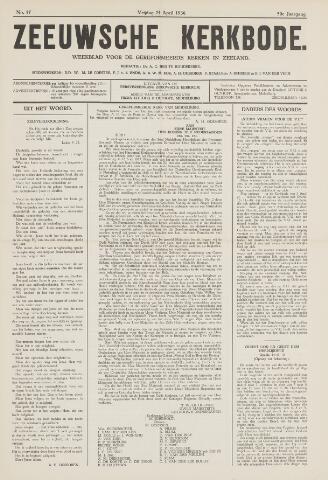 Zeeuwsche kerkbode, weekblad gewijd aan de belangen der gereformeerde kerken/ Zeeuwsch kerkblad 1936-04-24