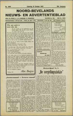 Noord-Bevelands Nieuws- en advertentieblad 1952-10-18