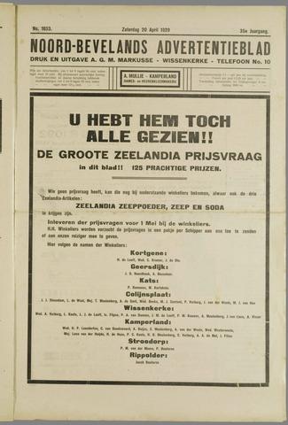 Noord-Bevelands Nieuws- en advertentieblad 1929-04-20