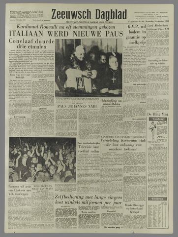 Zeeuwsch Dagblad 1958-10-29