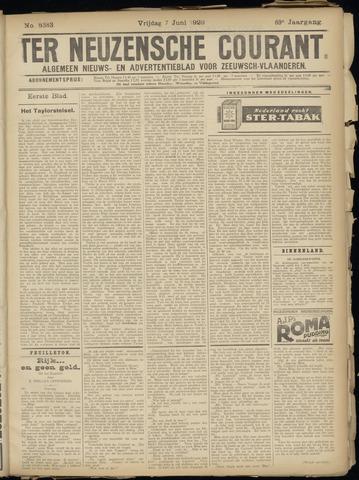 Ter Neuzensche Courant. Algemeen Nieuws- en Advertentieblad voor Zeeuwsch-Vlaanderen / Neuzensche Courant ... (idem) / (Algemeen) nieuws en advertentieblad voor Zeeuwsch-Vlaanderen 1929-06-07