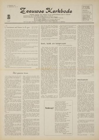 Zeeuwsche kerkbode, weekblad gewijd aan de belangen der gereformeerde kerken/ Zeeuwsch kerkblad 1970-02-19