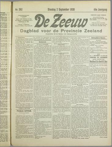De Zeeuw. Christelijk-historisch nieuwsblad voor Zeeland 1930-09-02