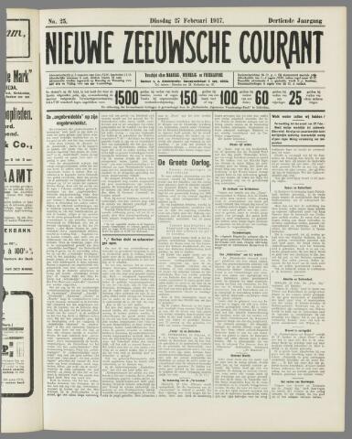 Nieuwe Zeeuwsche Courant 1917-02-27
