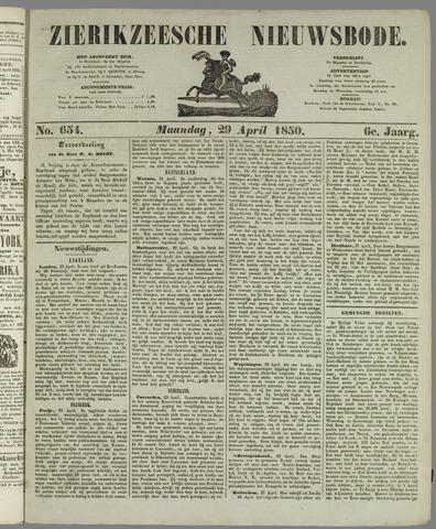 Zierikzeesche Nieuwsbode 1850-04-29