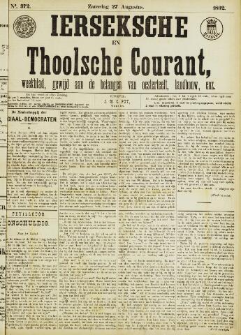 Ierseksche en Thoolsche Courant 1892-08-27