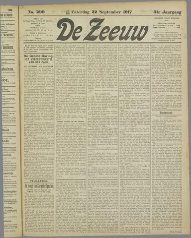 De Zeeuw. Christelijk-historisch nieuwsblad voor Zeeland 1917-09-22