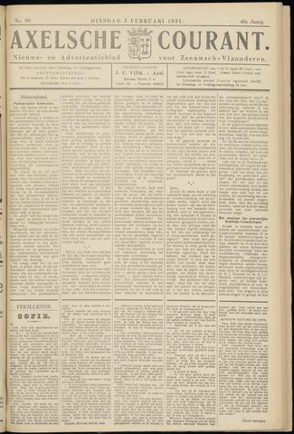 Axelsche Courant 1931-02-03