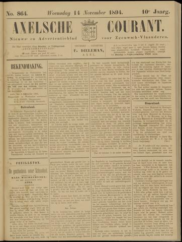 Axelsche Courant 1894-11-14