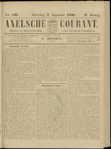 Axelsche Courant 1890-08-09