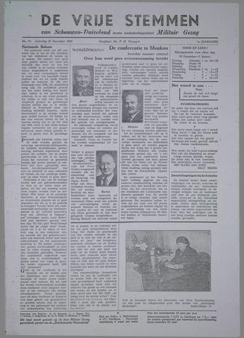 Vrije Stemmen van Schouwen-Duiveland, tevens mededeelingenblad Militair Gezag 1945-12-29