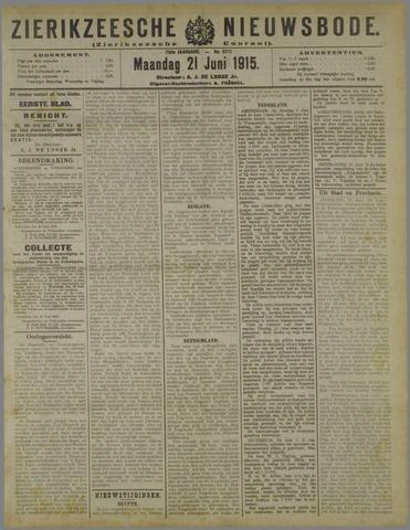 Zierikzeesche Nieuwsbode 1915-06-21