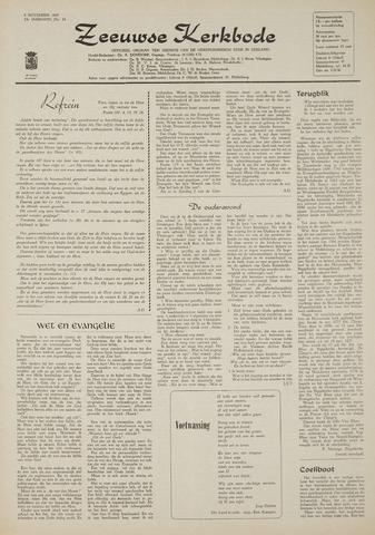 Zeeuwsche kerkbode, weekblad gewijd aan de belangen der gereformeerde kerken/ Zeeuwsch kerkblad 1969-11-06