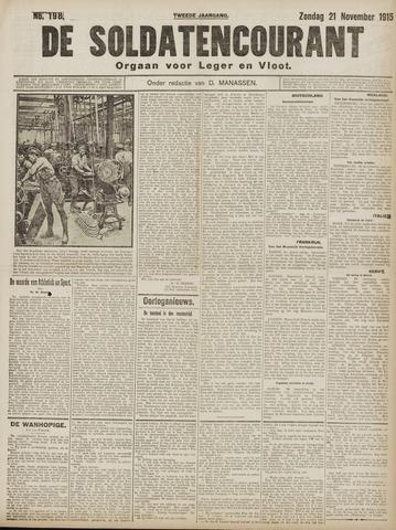 De Soldatencourant. Orgaan voor Leger en Vloot 1915-11-21