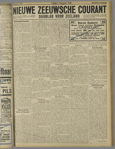 Nieuwe Zeeuwsche Courant 1920-11-05