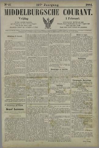 Middelburgsche Courant 1884-02-01