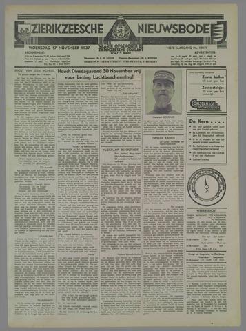 Zierikzeesche Nieuwsbode 1937-11-17