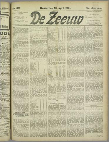 De Zeeuw. Christelijk-historisch nieuwsblad voor Zeeland 1921-04-21