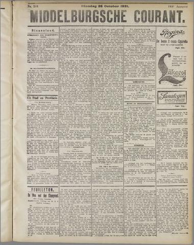 Middelburgsche Courant 1921-10-25