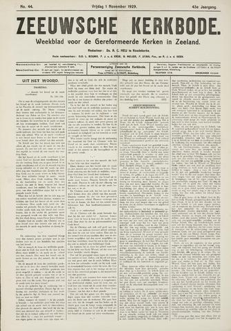 Zeeuwsche kerkbode, weekblad gewijd aan de belangen der gereformeerde kerken/ Zeeuwsch kerkblad 1929-11-01