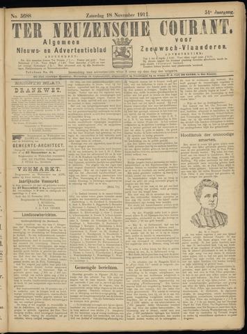 Ter Neuzensche Courant. Algemeen Nieuws- en Advertentieblad voor Zeeuwsch-Vlaanderen / Neuzensche Courant ... (idem) / (Algemeen) nieuws en advertentieblad voor Zeeuwsch-Vlaanderen 1911-11-18