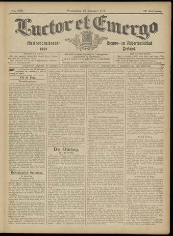 Luctor et Emergo. Antirevolutionair nieuws- en advertentieblad voor Zeeland / Zeeuwsch-Vlaanderen. Orgaan ter verspreiding van de christelijke beginselen in Zeeuwsch-Vlaanderen 1915-01-20