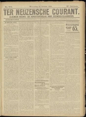 Ter Neuzensche Courant. Algemeen Nieuws- en Advertentieblad voor Zeeuwsch-Vlaanderen / Neuzensche Courant ... (idem) / (Algemeen) nieuws en advertentieblad voor Zeeuwsch-Vlaanderen 1924-10-22