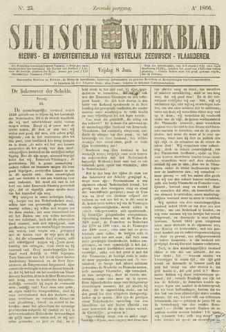 Sluisch Weekblad. Nieuws- en advertentieblad voor Westelijk Zeeuwsch-Vlaanderen 1866-06-08