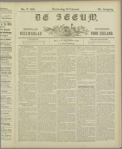 De Zeeuw. Christelijk-historisch nieuwsblad voor Zeeland 1901-02-21