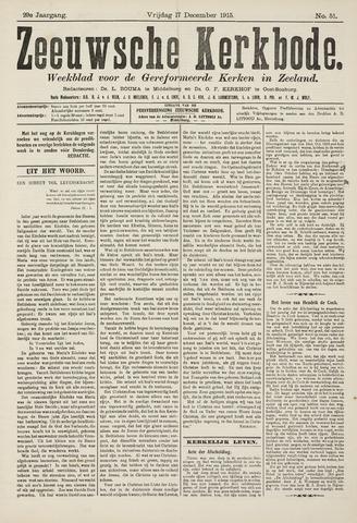 Zeeuwsche kerkbode, weekblad gewijd aan de belangen der gereformeerde kerken/ Zeeuwsch kerkblad 1915-12-17