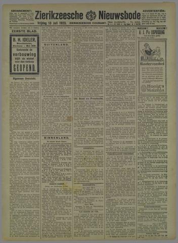 Zierikzeesche Nieuwsbode 1923-07-13