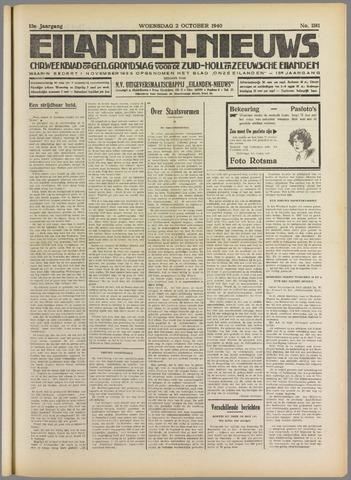 Eilanden-nieuws. Christelijk streekblad op gereformeerde grondslag 1940-10-02