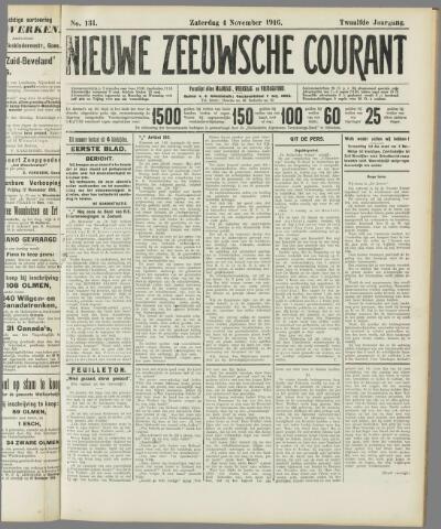Nieuwe Zeeuwsche Courant 1916-11-04