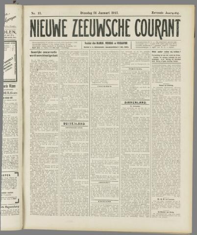 Nieuwe Zeeuwsche Courant 1911-01-24