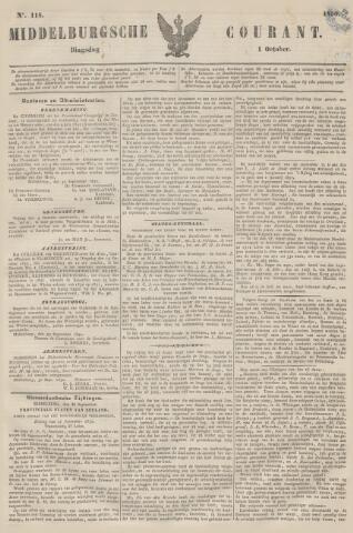 Middelburgsche Courant 1850-10-01