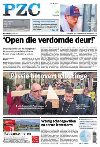 Provinciale Zeeuwse Courant 2015-03-30