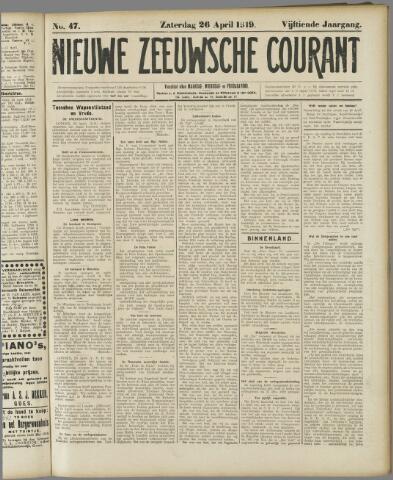 Nieuwe Zeeuwsche Courant 1919-04-26