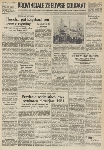 Provinciale Zeeuwse Courant 1951-10-29