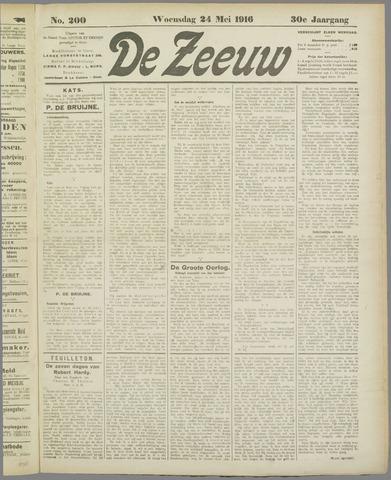 De Zeeuw. Christelijk-historisch nieuwsblad voor Zeeland 1916-05-24