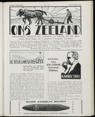 Ons Zeeland / Zeeuwsche editie 1927-09-03