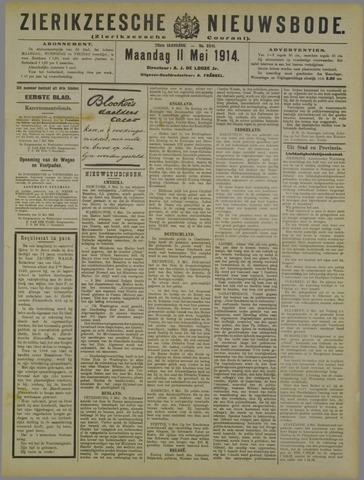 Zierikzeesche Nieuwsbode 1914-05-11